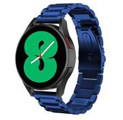 Strap-it® Samsung Galaxy Watch 4 stalen band (blauw)