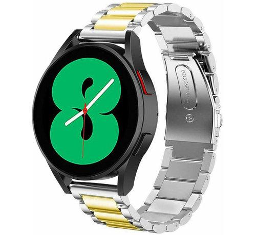 Strap-it® Strap-it® Samsung Galaxy Watch 4 stalen band (zilver/goud)