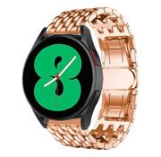 Strap-it® Samsung Galaxy Watch 4 stalen draak bandje (rosé goud)