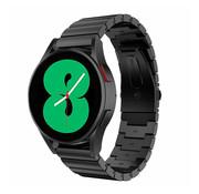 Strap-it® Samsung Galaxy Watch 4 metalen bandje (zwart)