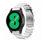 Strap-it® Samsung Galaxy Watch 4 metalen bandje (zilver)