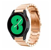 Strap-it® Samsung Galaxy Watch 4 metalen bandje (rosé goud)