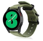 Strap-it® Samsung Galaxy Watch 4 nylon gesp band (groen)