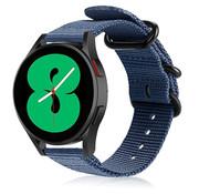 Strap-it® Samsung Galaxy Watch 4 nylon gesp band (blauw)