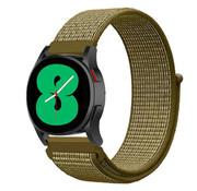 Strap-it® Samsung Galaxy Watch 4 - 40mm nylon band (olijf)