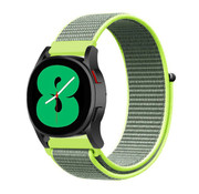 Strap-it® Samsung Galaxy Watch 4 - 40mm nylon band (fluoriserend)