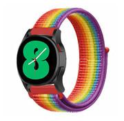 Strap-it® Samsung Galaxy Watch 4 - 40mm nylon band (regenboog)