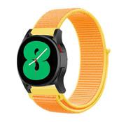 Strap-it® Samsung Galaxy Watch 4 - 44mm nylon band (lichtgeel)
