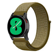 Strap-it® Samsung Galaxy Watch 4 - 44mm nylon band (olijf)