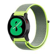 Strap-it® Samsung Galaxy Watch 4 - 44mm nylon band (fluoriserend)