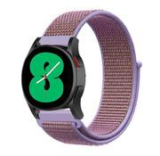 Strap-it® Samsung Galaxy Watch 4 - 44mm nylon band (lila)