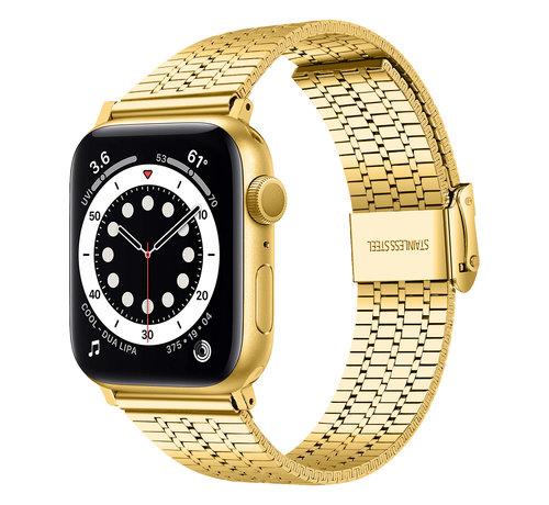 Strap-it® Strap-it® Apple Watch roestvrij stalen band (goud)