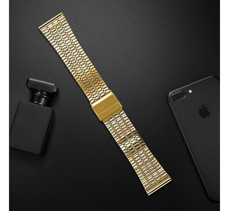 Strap-it® Fitbit Versa roestvrij stalen bandje (goud)