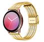 Strap-it® Samsung Galaxy Watch Active roestvrij stalen band (goud)