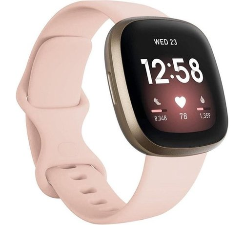 Strap-it® Strap-it® Fitbit Versa 3 siliconen bandje (lichtroze)