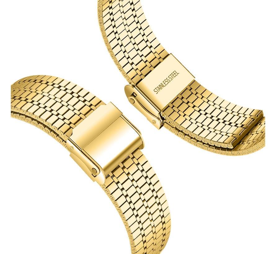 Strap-it® Samsung Galaxy Watch 46mm roestvrij stalen band (goud)