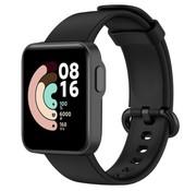 Strap-it® Xiaomi Mi Watch Lite siliconen bandje (zwart)