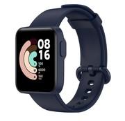 Strap-it® Xiaomi Mi Watch Lite siliconen bandje (donkerblauw)