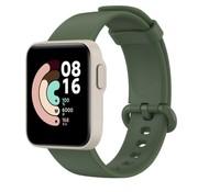 Strap-it® Xiaomi Mi Watch Lite siliconen bandje (donkergroen)