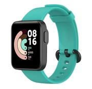 Strap-it® Xiaomi Mi Watch Lite siliconen bandje (aqua)