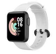 Strap-it® Xiaomi Mi Watch Lite siliconen bandje (wit)