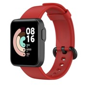 Strap-it® Xiaomi Mi Watch Lite siliconen bandje (rood)