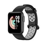 Strap-it® Xiaomi Mi Watch Lite sport bandje (zwart/grijs)