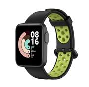 Strap-it® Xiaomi Mi Watch Lite sport bandje (zwart/groen)
