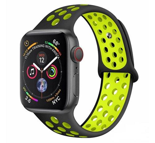 Strap-it® Strap-it® Apple Watch sport+ band (zwart/geel)