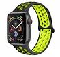 Strap-it® Apple Watch sport+ band (zwart/geel)