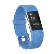 Strap-it® Fitbit Charge 2 siliconen bandje (hemelsblauw)