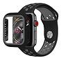 Strap-it® Apple Watch sport band + TPU case (zwart/grijs)