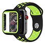 Strap-it® Apple Watch sport band + TPU case (zwart/geel)