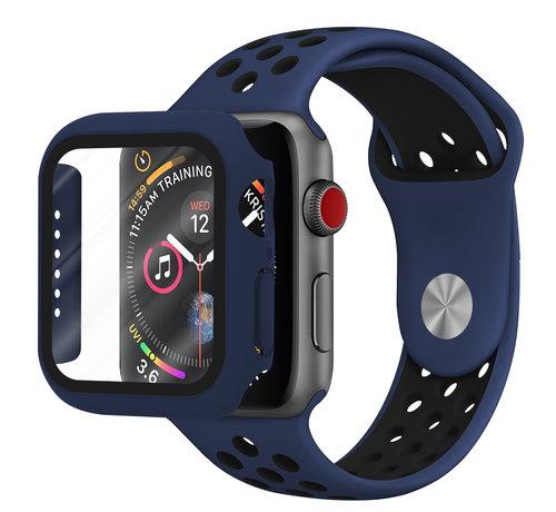 Strap-it® Strap-it® Apple Watch sport band + TPU case (blauw/zwart)