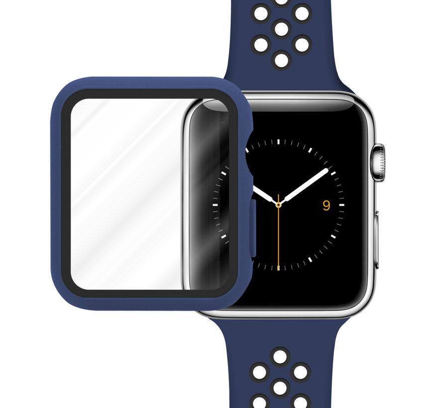 Strap-it® Apple Watch sport band + TPU case (blauw/zwart)