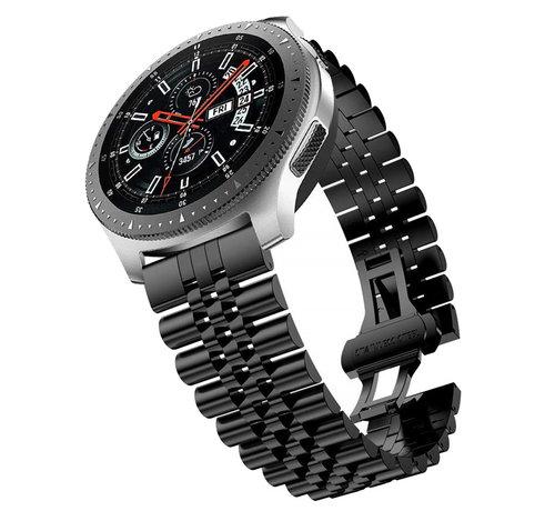 Strap-it® Strap-it® Samsung Galaxy Watch 46mm Jubilee stalen band (zwart)