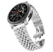 Strap-it® Samsung Galaxy Watch 46mm Jubilee stalen band (zilver)