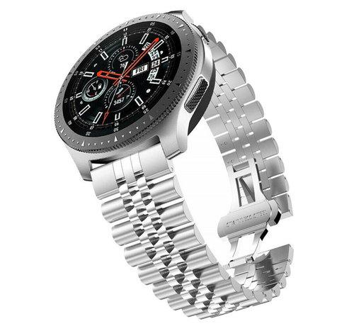 Strap-it® Strap-it® Samsung Galaxy Watch 46mm Jubilee stalen band (zilver)