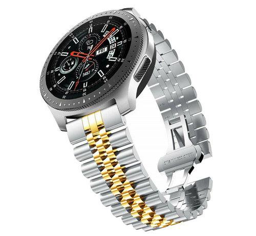 Strap-it® Strap-it® Samsung Galaxy Watch 46mm Jubilee stalen band (zilver/goud)