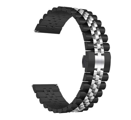 Strap-it® Strap-it® Samsung Galaxy Watch 46mm Jubilee stalen band (zwart/zilver)