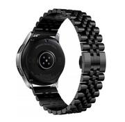 Strap-it® Samsung Galaxy Watch 3 45mm Jubilee stalen band (zwart)