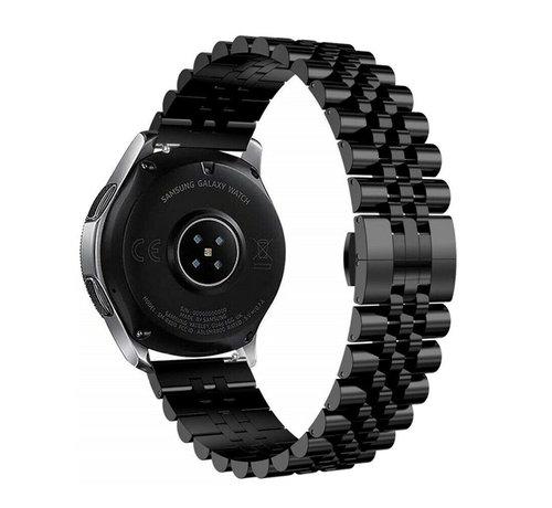 Strap-it® Strap-it® Samsung Galaxy Watch 3 45mm Jubilee stalen band (zwart)