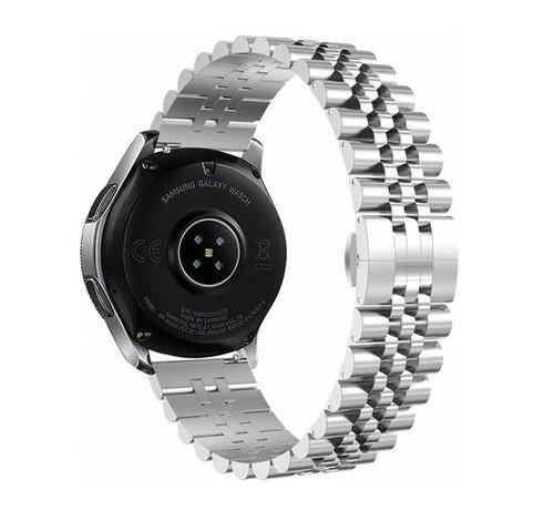 Strap-it® Strap-it® Samsung Galaxy Watch 3 45mm Jubilee stalen band (zilver)
