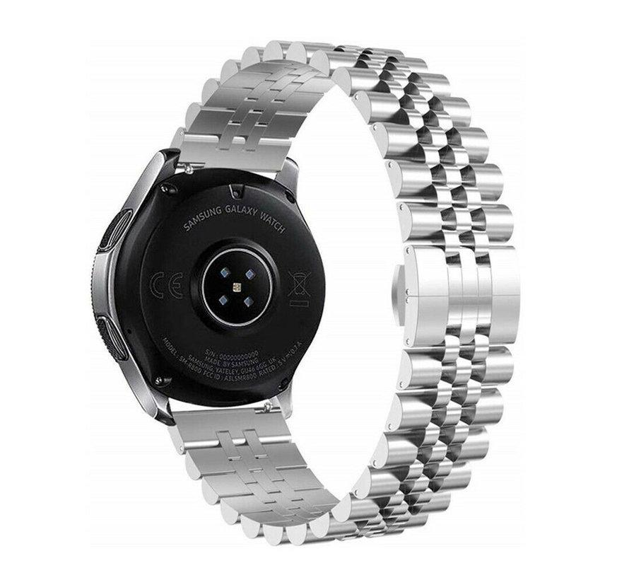 Strap-it® Samsung Galaxy Watch 3 45mm Jubilee stalen band (zilver)