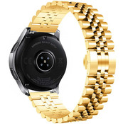 Strap-it® Samsung Galaxy Watch 3 45mm Jubilee stalen band (goud)