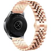 Strap-it® Samsung Galaxy Watch 42mm Jubilee stalen band (rosé goud)