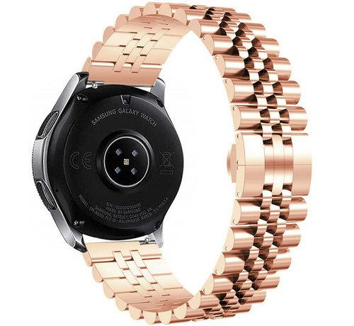 Strap-it® Strap-it® Samsung Galaxy Watch 42mm Jubilee stalen band (rosé goud)