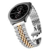 Strap-it® Samsung Galaxy Watch 42mm Jubilee stalen band (zilver/rosé goud)