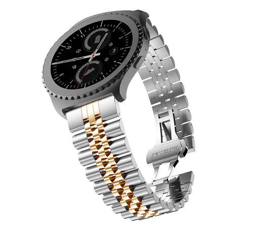 Strap-it® Strap-it® Samsung Galaxy Watch 42mm Jubilee stalen band (zilver/rosé goud)