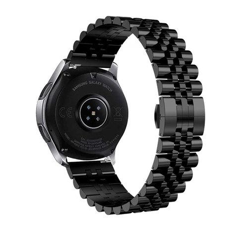 Strap-it® Strap-it® Samsung Galaxy Watch 3 41mm Jubilee stalen band (zwart)
